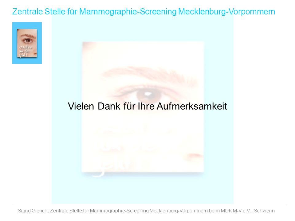Sigrid Gierich, Zentrale Stelle für Mammographie-Screening Mecklenburg-Vorpommern beim MDK M-V e.V., Schwerin Zentrale Stelle für Mammographie-Screeni