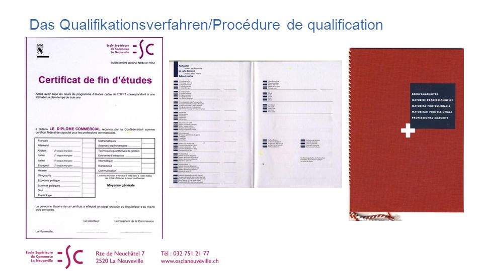 Das Qualifikationsverfahren/Procédure de qualification