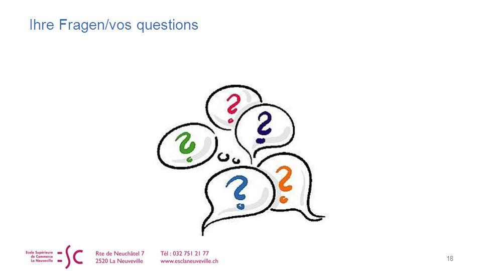Ihre Fragen/vos questions 18