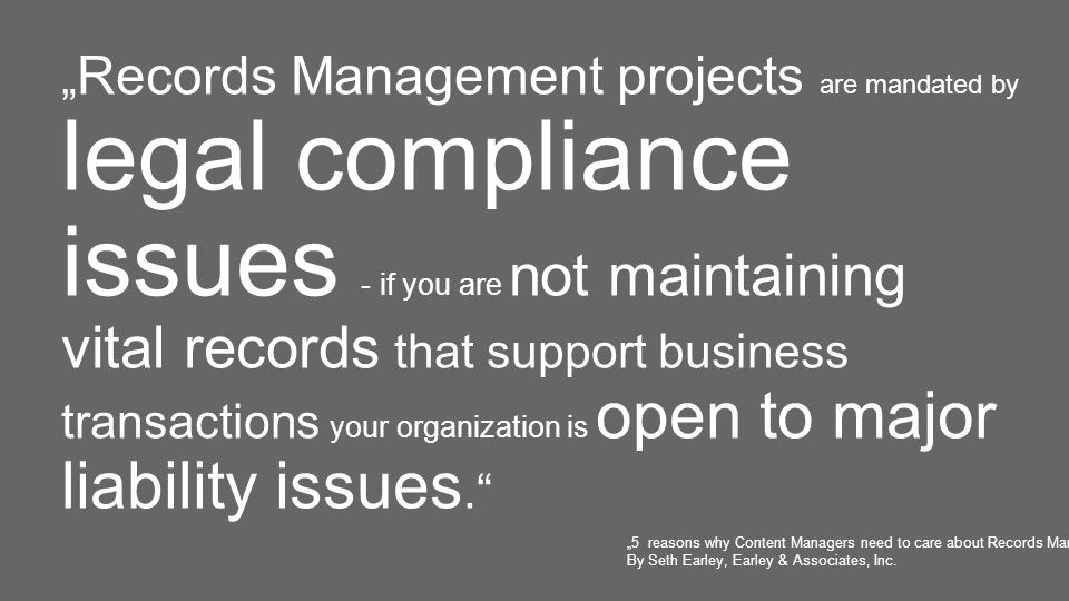 29.11.2011– öffentlich– Richard Lehner, CC-EIM / Records Management & Compliance3