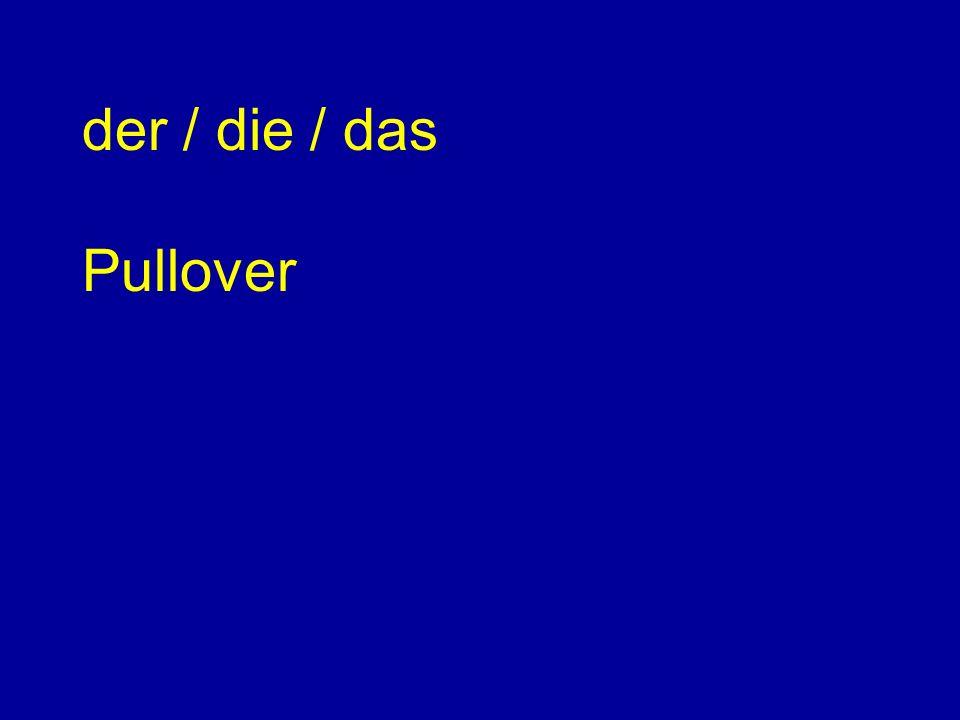der / die / das Pullover