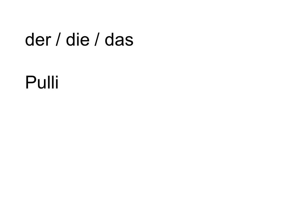der / die / das Pulli