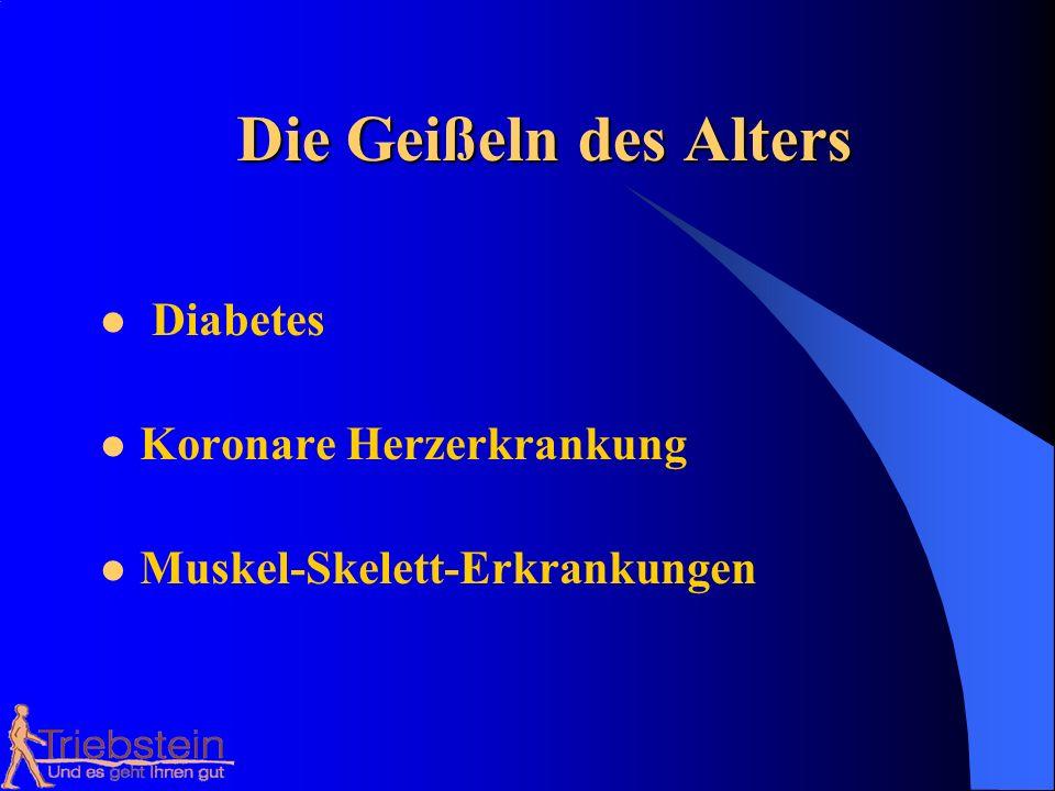 Die Beschwerden in den Gelenken der Beine und des Rückens verstärken sich ständig Die körperliche Belastung aller Deutschen verringert sich ständig