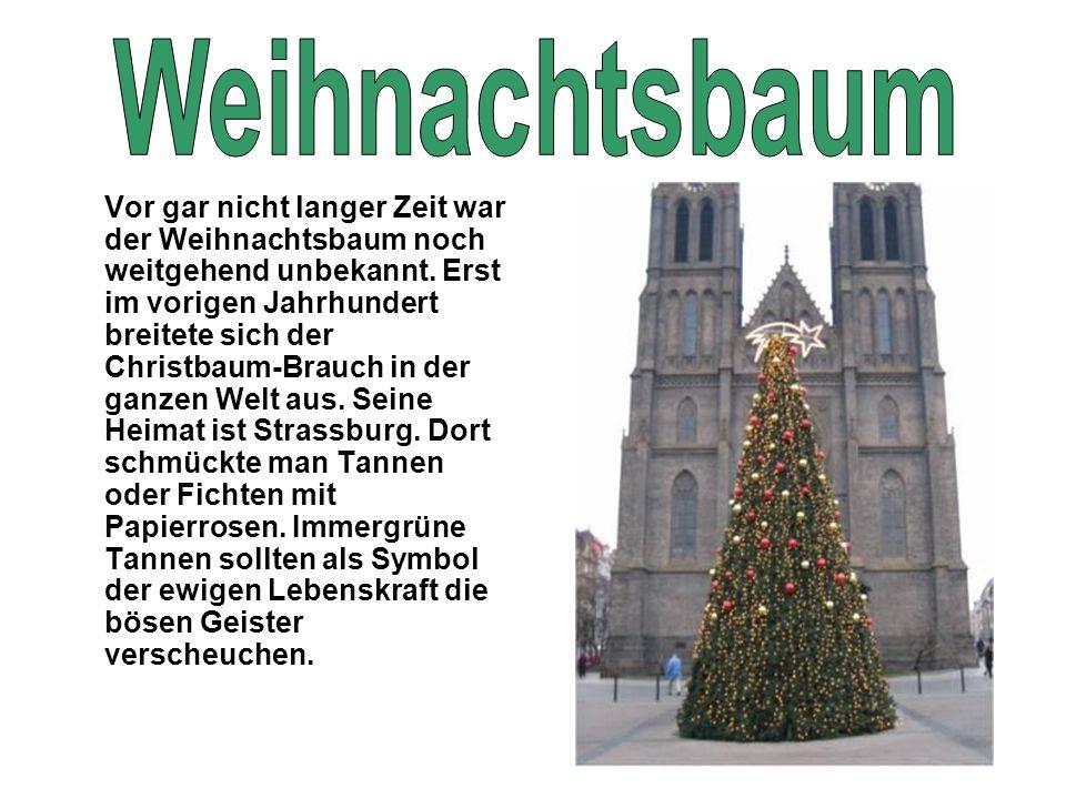 Vor gar nicht langer Zeit war der Weihnachtsbaum noch weitgehend unbekannt. Erst im vorigen Jahrhundert breitete sich der Christbaum-Brauch in der gan