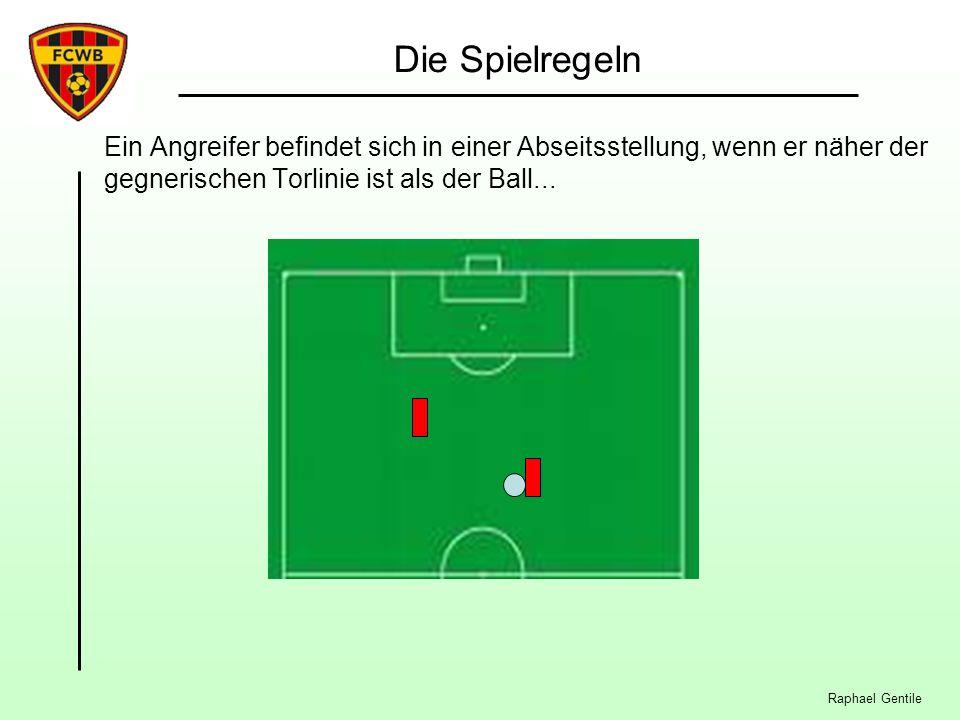 Raphael Gentile Die Spielregeln Ein Angreifer befindet sich in einer Abseitsstellung, wenn er näher der gegnerischen Torlinie ist als der Ball...