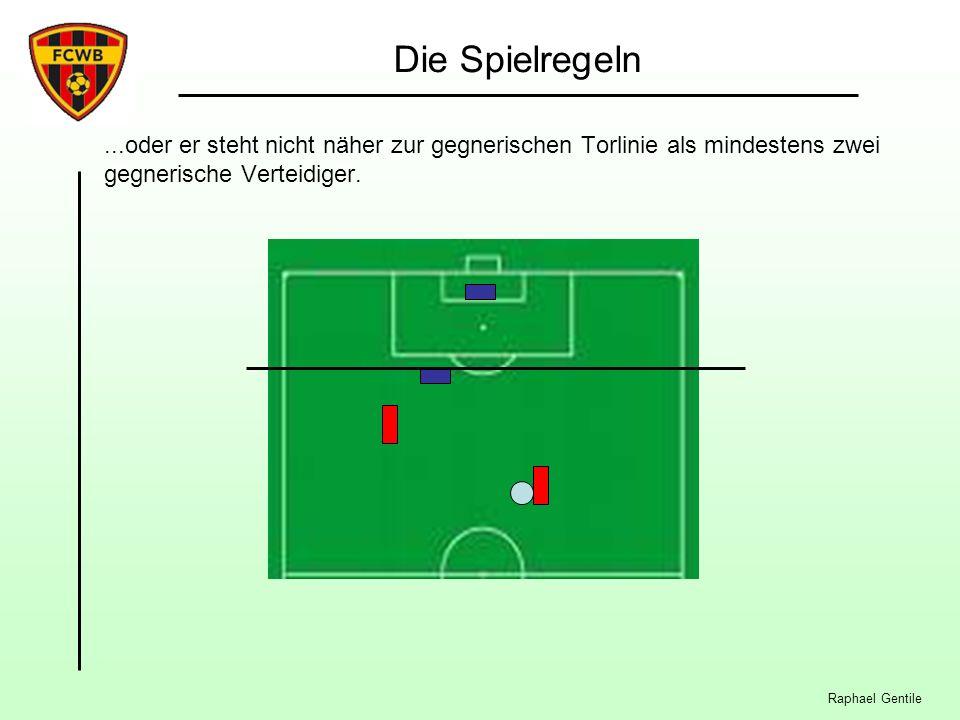 Raphael Gentile Die Spielregeln...oder er steht nicht näher zur gegnerischen Torlinie als mindestens zwei gegnerische Verteidiger.