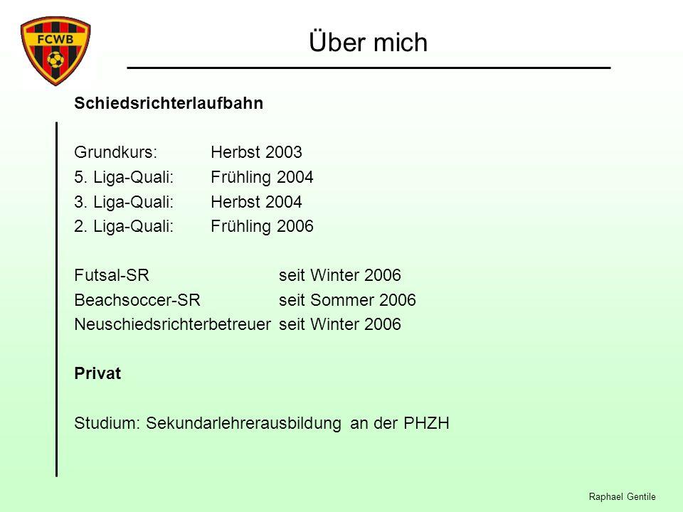 Über mich Schiedsrichterlaufbahn Grundkurs: Herbst 2003 5.