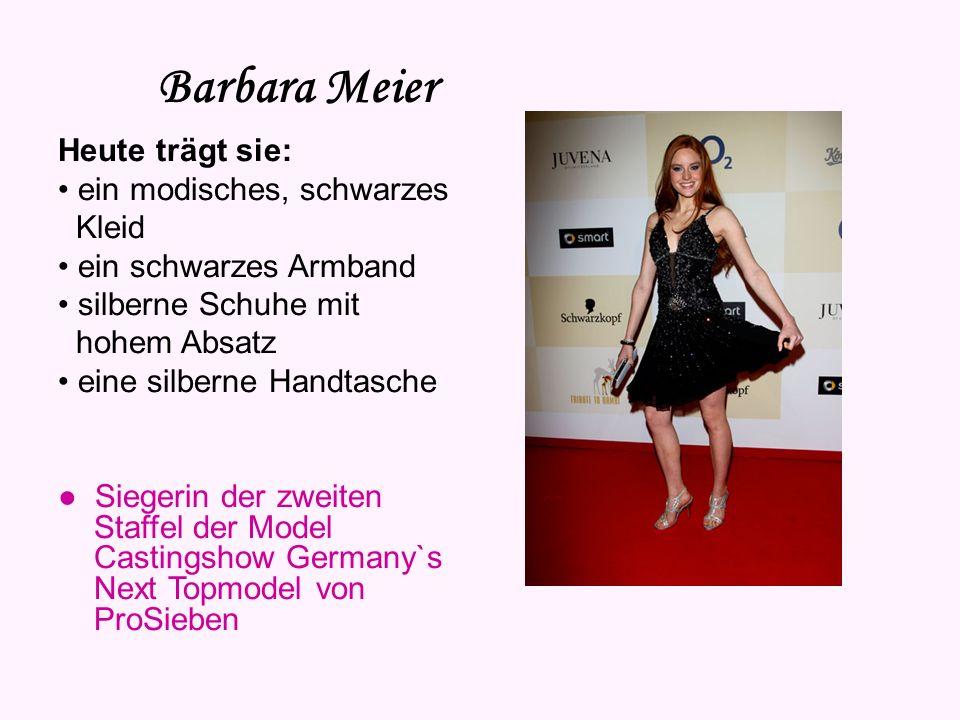 Barbara Meier Vorname: Barbara Nachname: Meier Geburtsdatum: 25. Juli 1986 Sternzeichen: Löwe Geburtsort: Regensburg Haarfarbe: rot Augenfarbe: braun