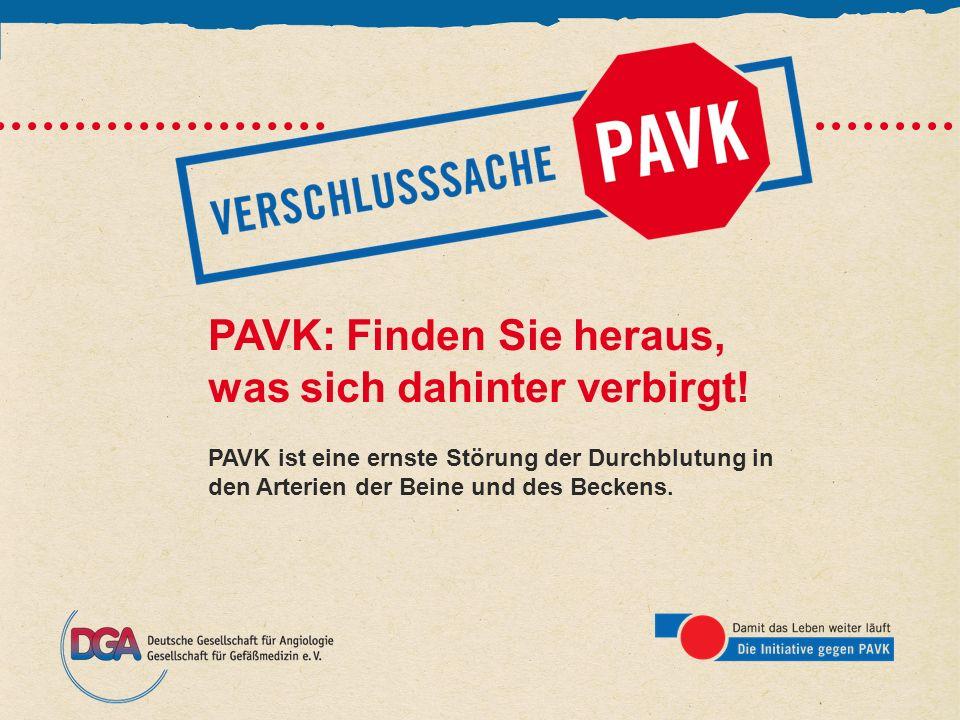 PAVK: Finden Sie heraus, was sich dahinter verbirgt! PAVK ist eine ernste Störung der Durchblutung in den Arterien der Beine und des Beckens.