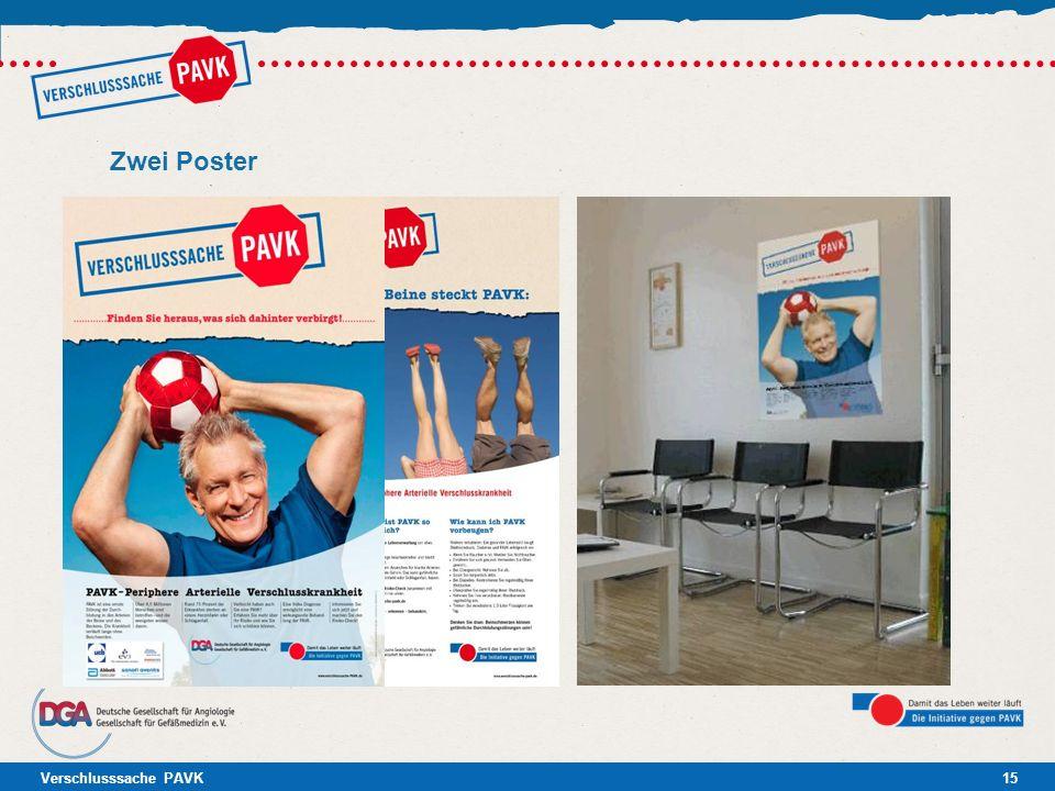 Verschlusssache PAVK15 Zwei Poster