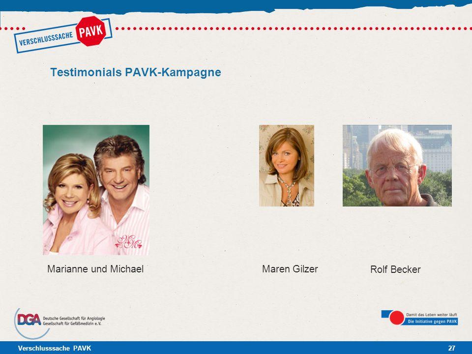 Verschlusssache PAVK27 Testimonials PAVK-Kampagne Maren Gilzer Rolf Becker Marianne und Michael