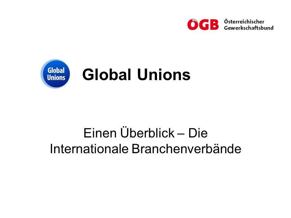 Global Unions Einen Überblick – Die Internationale Branchenverbände