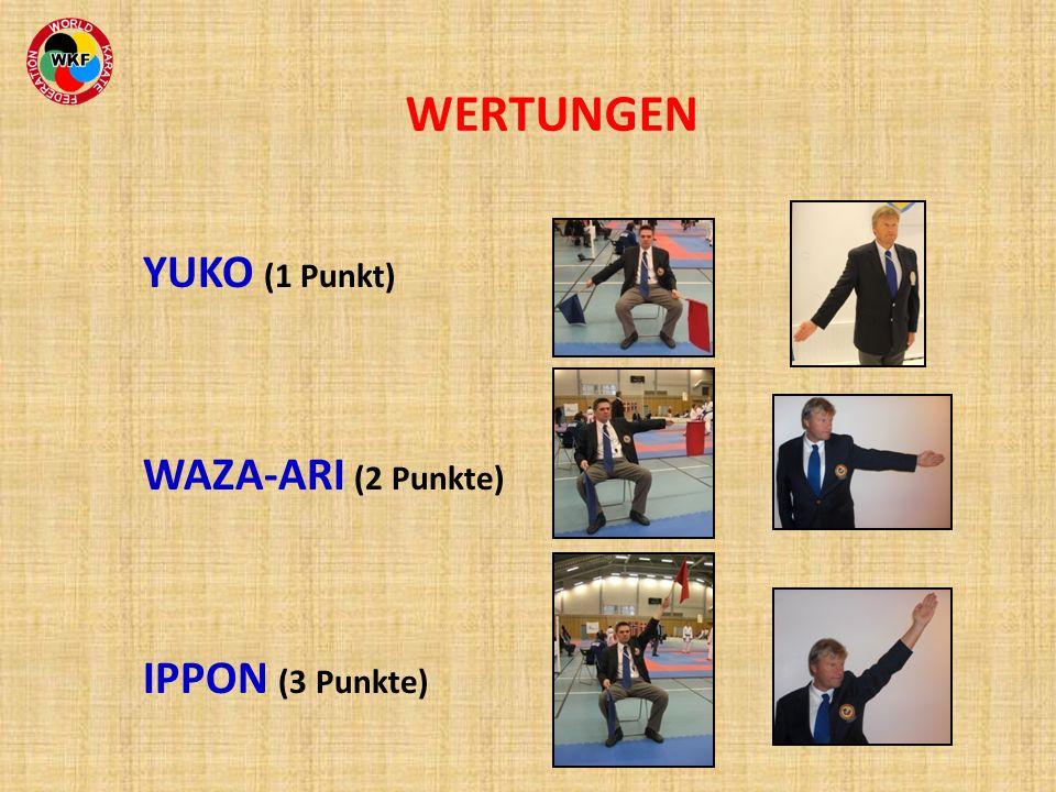 WERTUNGEN YUKO (1 Punkt) WAZA-ARI (2 Punkte) IPPON (3 Punkte)