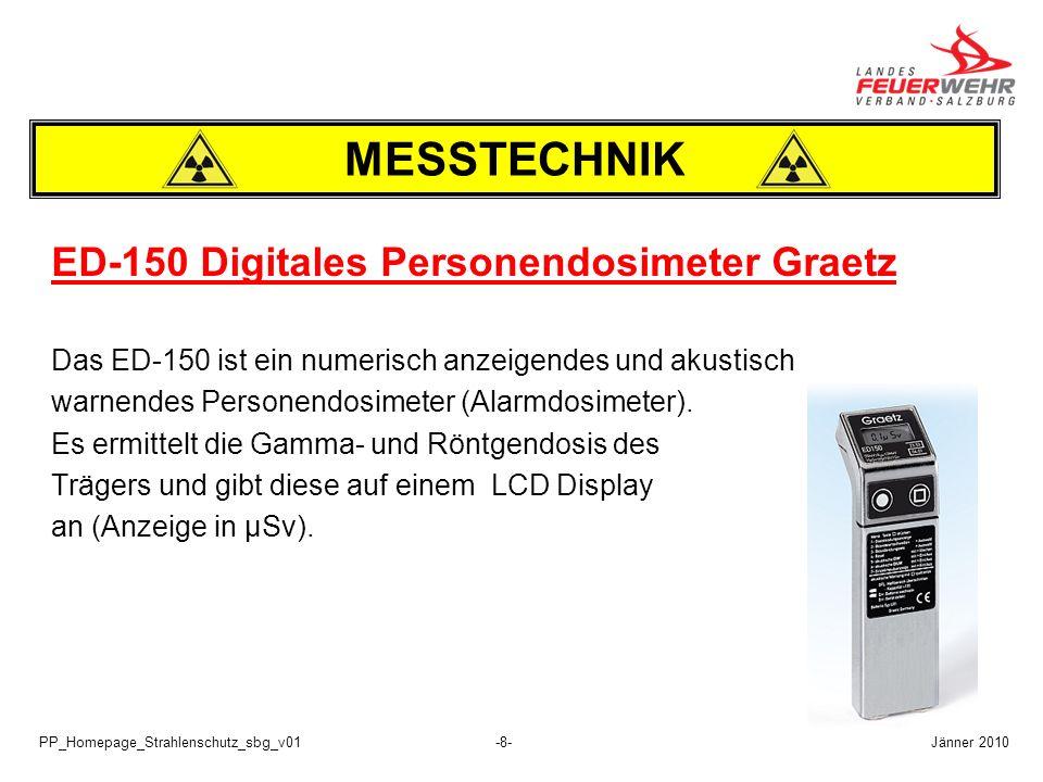 PP_Homepage_Strahlenschutz_sbg_v01-9- 3.) Dosisleistungsmesser 6150 AD Der Dosisleistungsmesser 6150 AD ist ein tragbares, Batteriebetriebenes Strahlungsmess- und Nachweisgerät für Photonenstrahlung (Gamma- und Röntgenstrahlung).