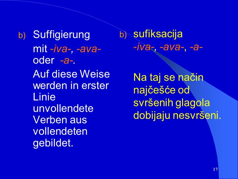 16 Beispiel/primjer: pisati (impf.) > napisati (pf.) schreiben