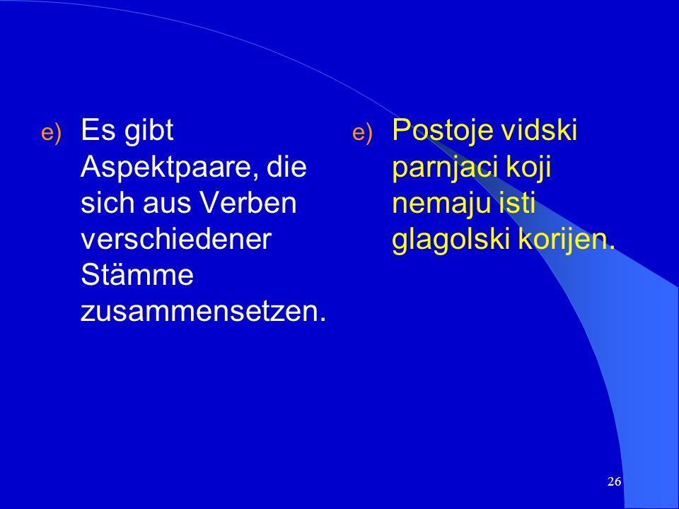 25 Beispiel/primjer: ràzgledati (pf.) -razglédati (impf.) besichtigen betrachten
