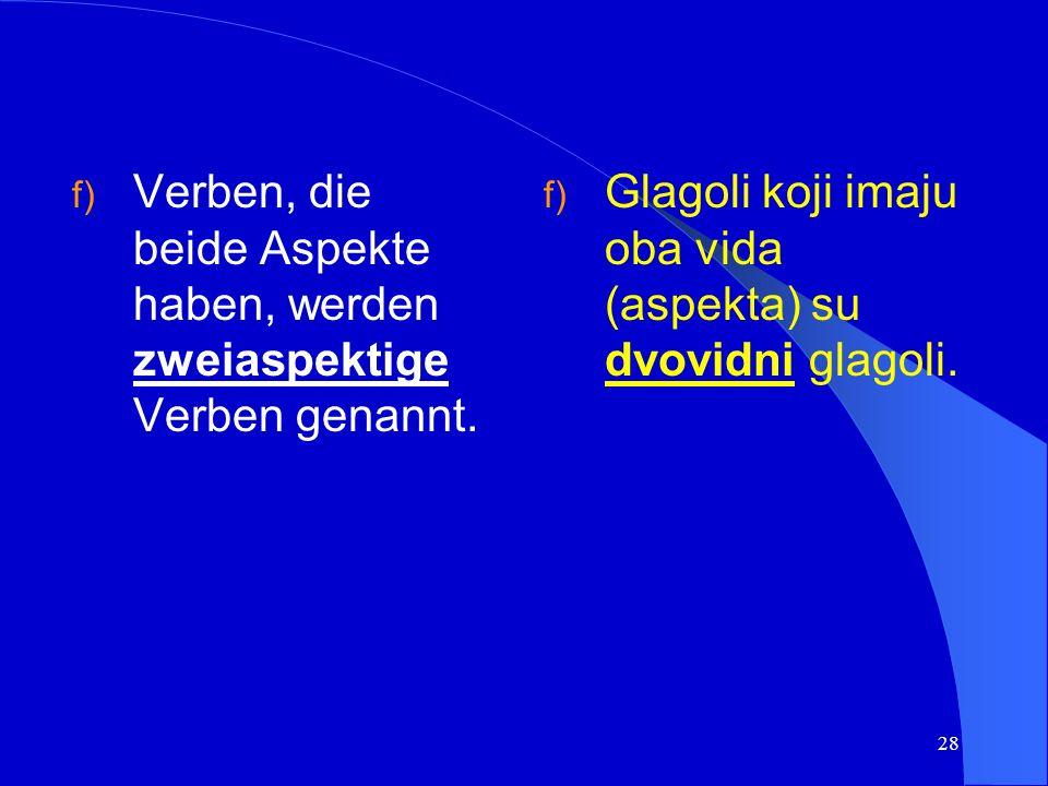 27 Beispiel/primjer: reći (pf.) -govoriti (impf.) sprechen