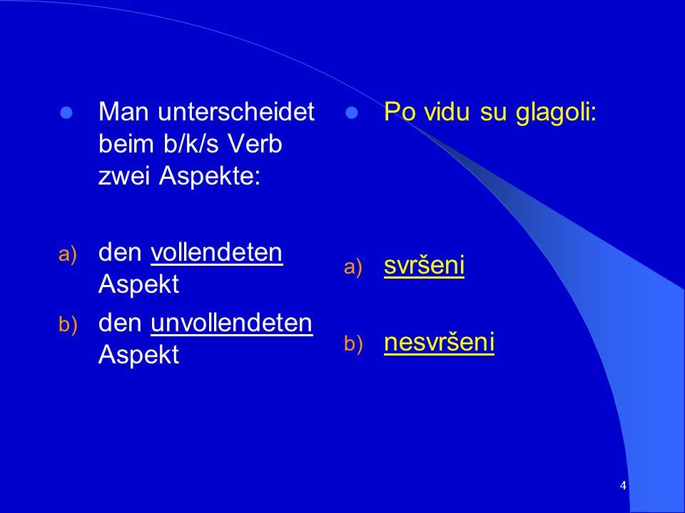 3 Die Kategorie des Aspekts ist eine für die slawischen Sprachen spezielle Kategorie; eine vergleichbare grammatische Kategorie für das Deutsche existiert nicht.