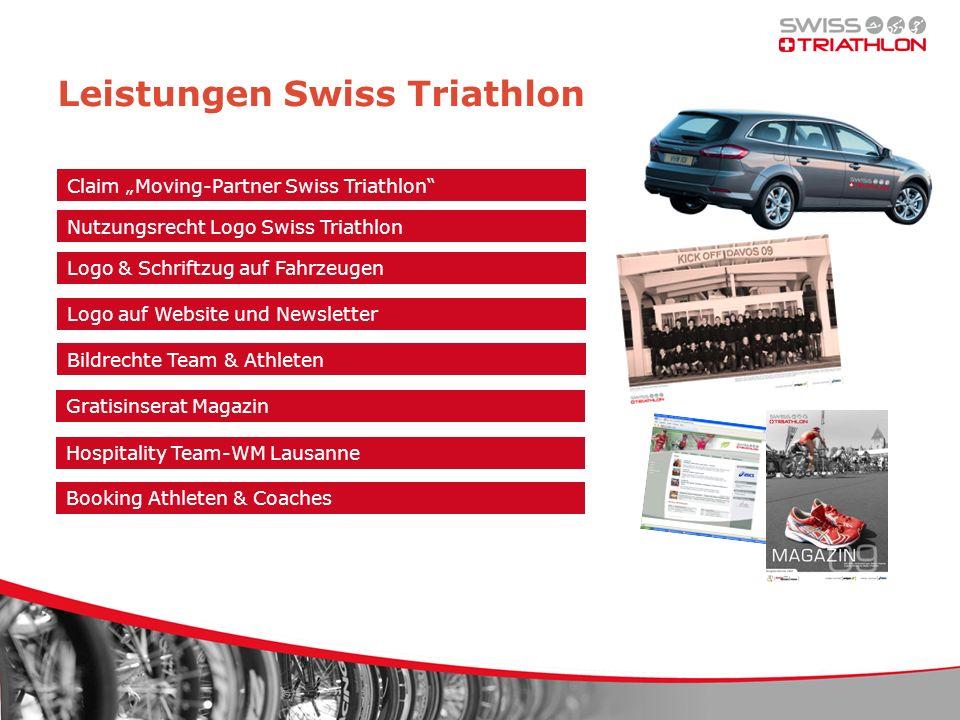 Leistungen Swiss Triathlon Claim Moving-Partner Swiss Triathlon Nutzungsrecht Logo Swiss Triathlon Logo auf Website und Newsletter Bildrechte Team & A