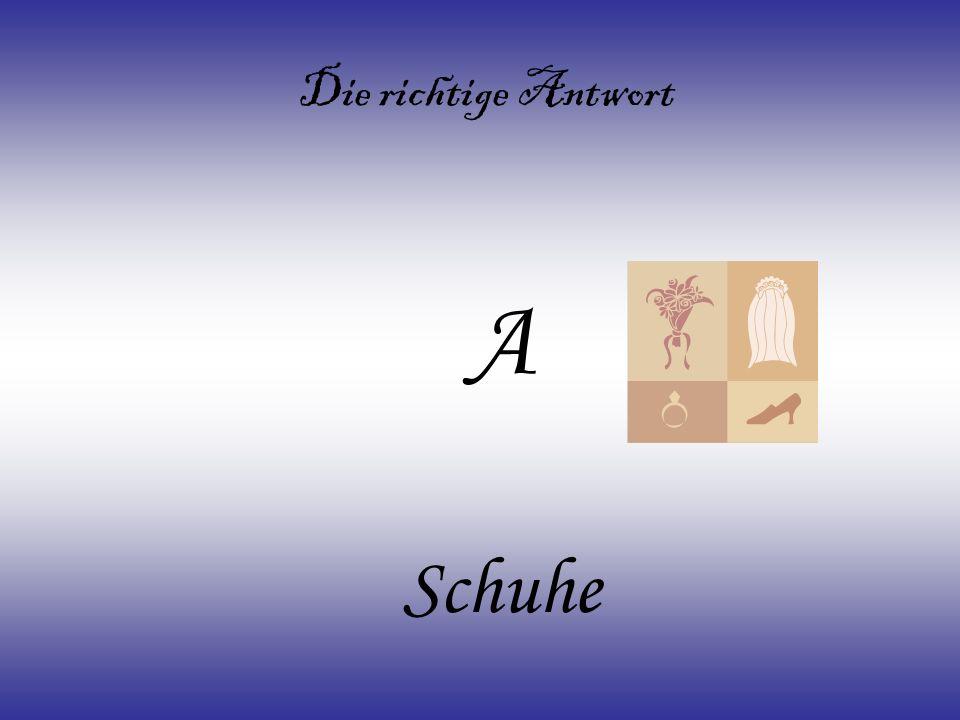 A) Schuhe B) Tasche C) Korb