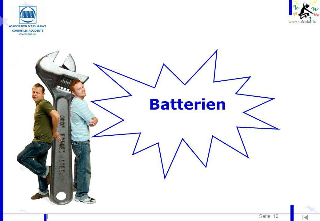 www.safestart.lu Seite: 10 Batterien