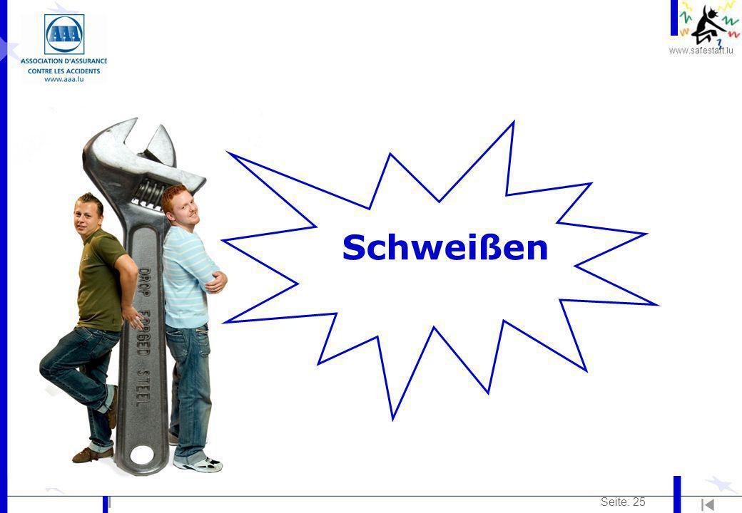 www.safestart.lu Seite: 25 Schweißen