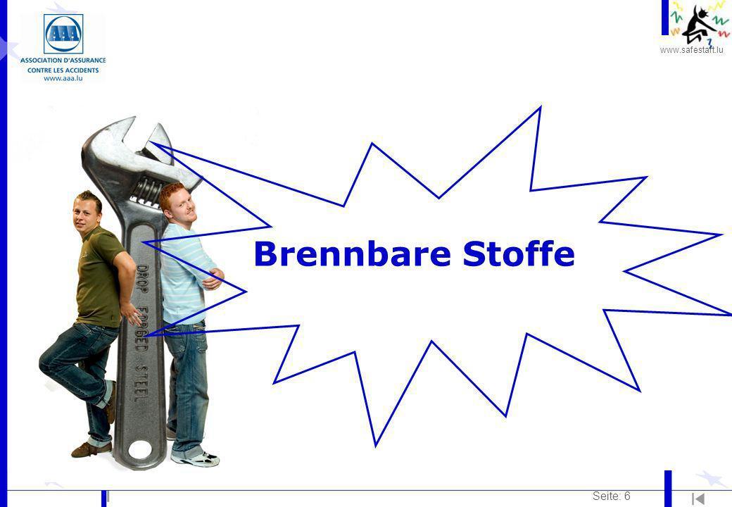 www.safestart.lu Seite: 6 Brennbare Stoffe