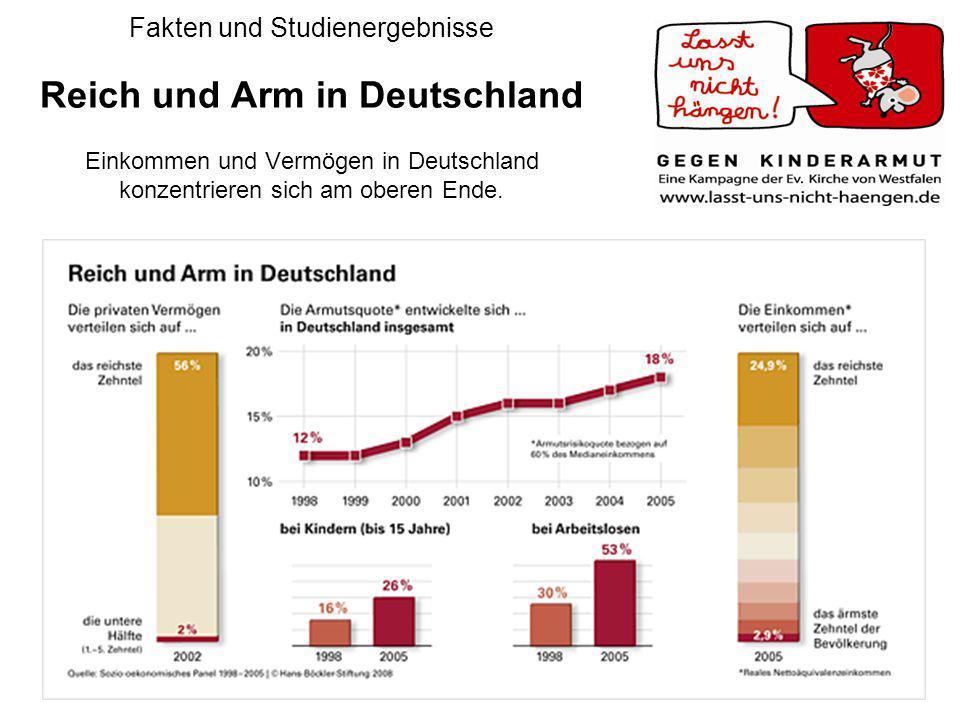 Amt für Jugendarbeit 20086 Fakten und Studienergebnisse Reich und Arm in Deutschland Einkommen und Vermögen in Deutschland konzentrieren sich am obere