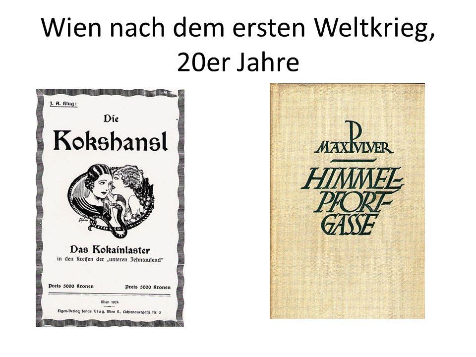 Wien nach dem ersten Weltkrieg, 20er Jahre