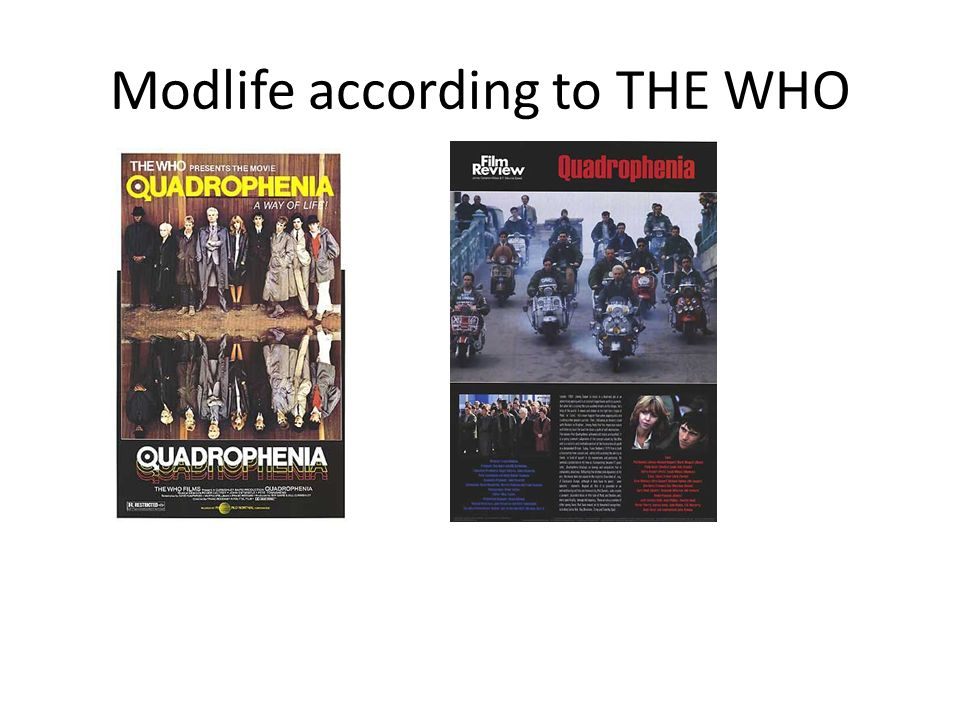 Modlife according to THE WHO