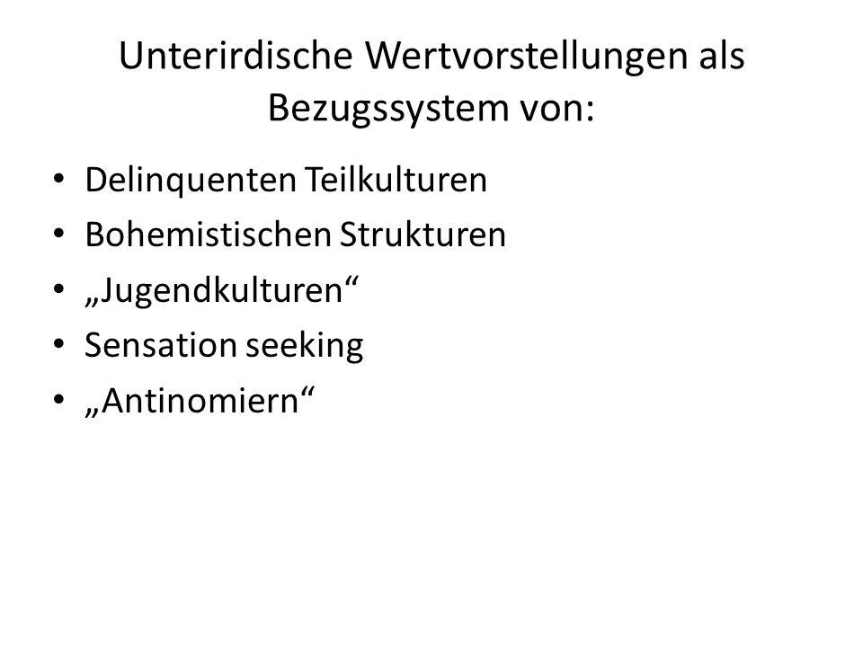 Typology der Jugendkulturen 1.Respektable oder konformistische Jugend: Das größte Segment der jugendlichen Bevölkerung.