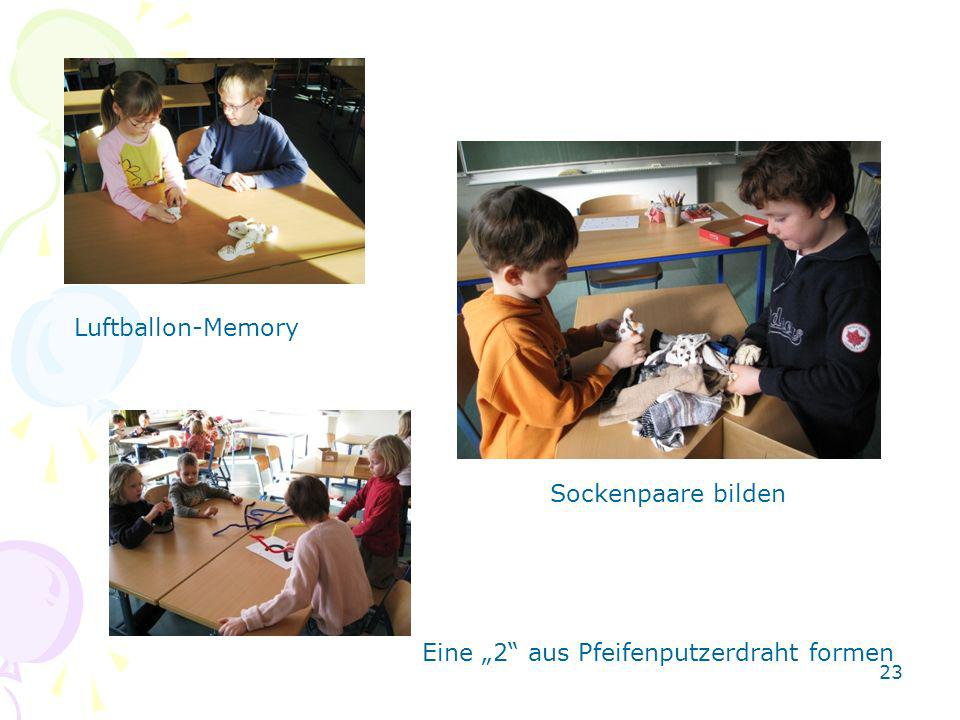 Luftballon-Memory Sockenpaare bilden Eine 2 aus Pfeifenputzerdraht formen 23