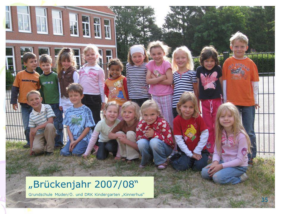 Brückenjahr 2007/08 Grundschule Müden/Ö. und DRK Kindergarten Kinnerhus 35