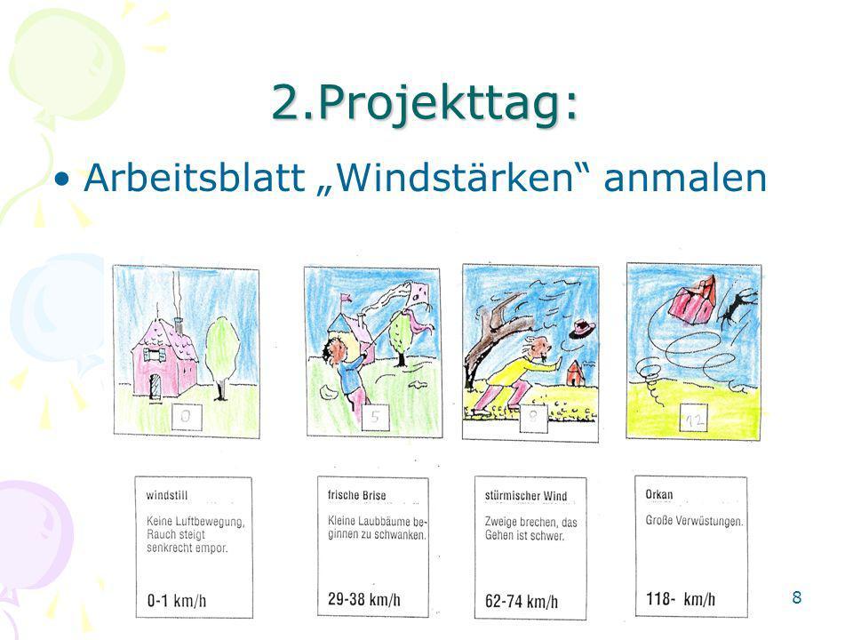 2.Projekttag: Arbeitsblatt Windstärken anmalen 8