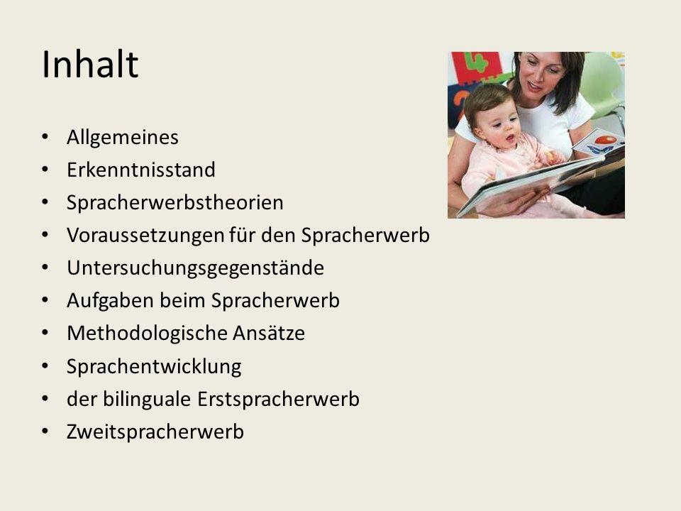 Zweitspracherwerb (Fremdsprachenerwerb) (1) das Erlernen der zweiten und aller weiteren Sprachen Anfang der Untersuchungen in den 50er Jahren des 20.