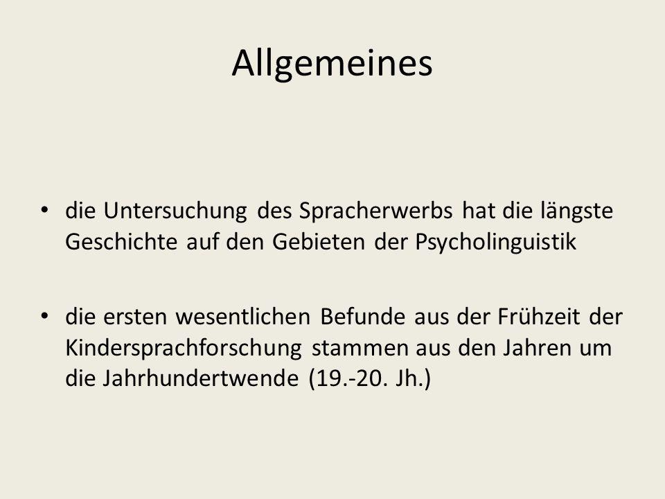 Kognitivismus (2) Die einfachen und die häufigsten Elemente der menschlichen Sprache werden schneller erkannt.