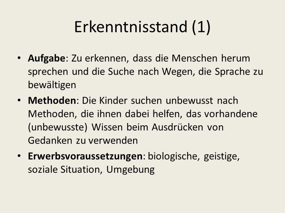 Die morphologische und die syntaktische Entwicklung (1) 12.-18.