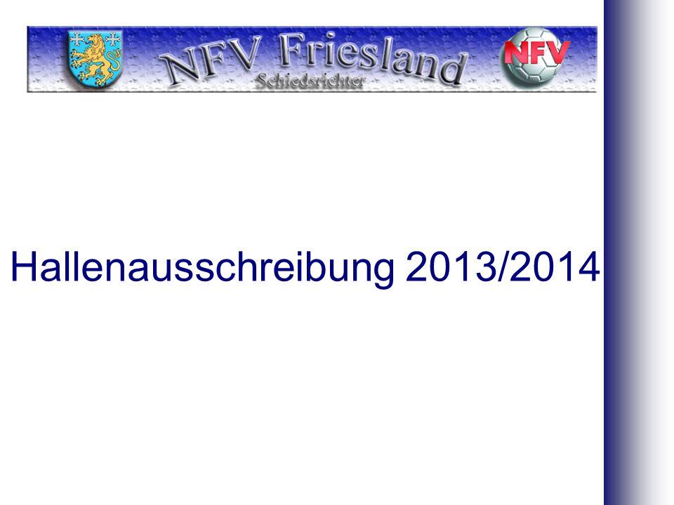 Hallenausschreibung 2013/2014