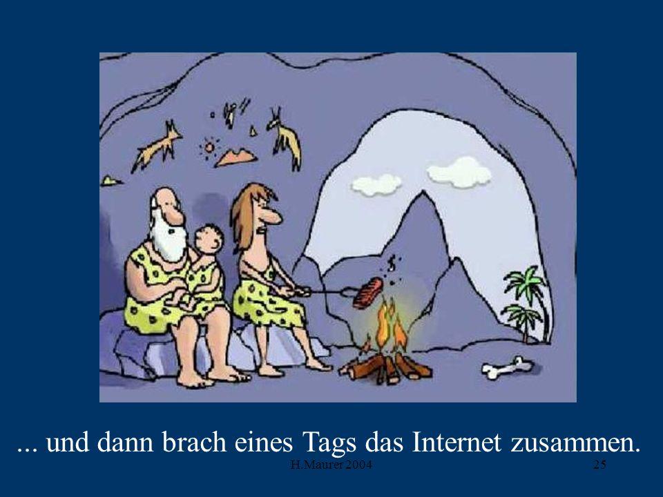 H.Maurer 200425... und dann brach eines Tags das Internet zusammen.
