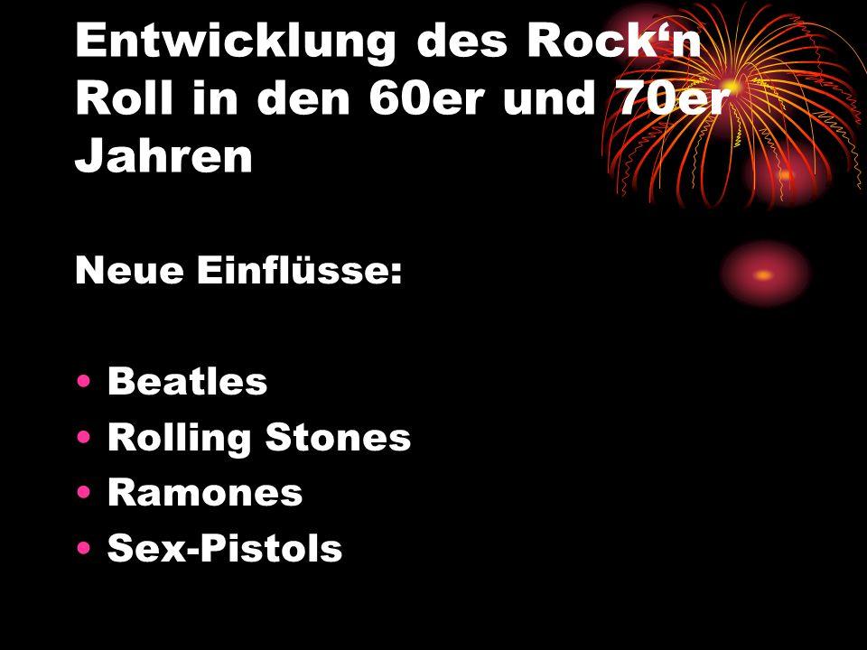 Bedeutung des R&R Sex, Drugs, Rockn Roll Rebellion Freiheit Lebenslust Religion Show Kraft und Energie
