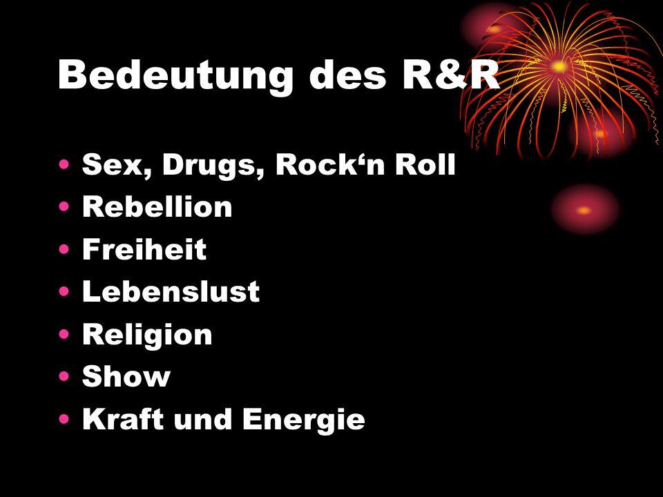 Rockn Roll der 80er bis heute: Musikrichtungen: Punk, Metal, Ska, Rockabilly, Folk … Klassische Instrumente: Bassgitarre, E-Gitarre, Drums Idole: Kiss, AC/DC, Gunsn Roses, Dylan, Clash, Dio…