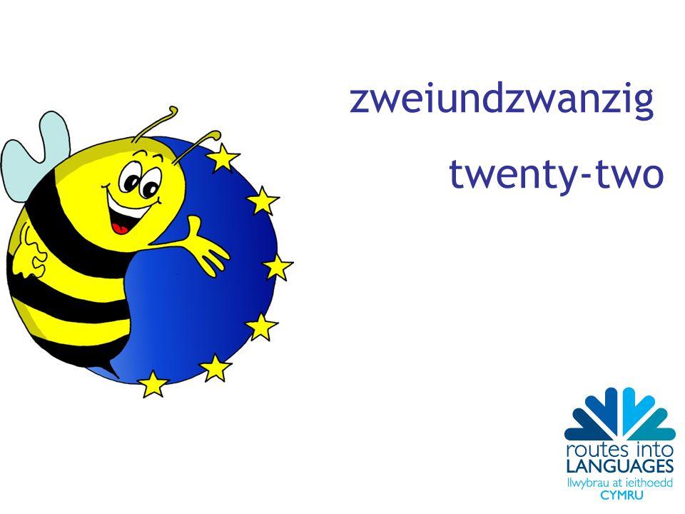 zweiundzwanzig twenty-two