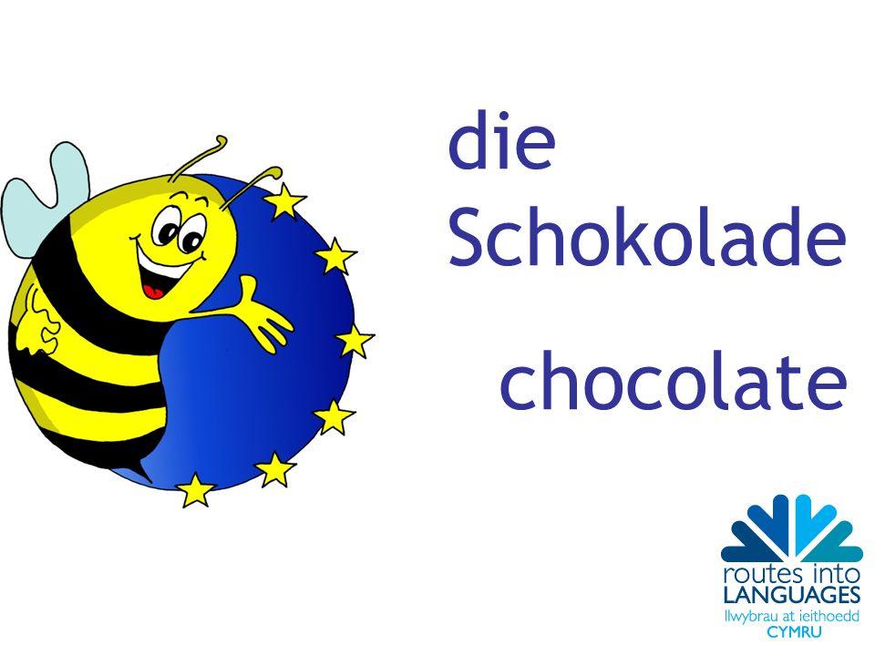die Schokolade chocolate