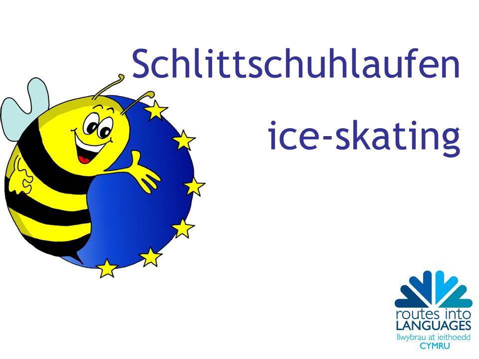 Schlittschuhlaufen ice-skating