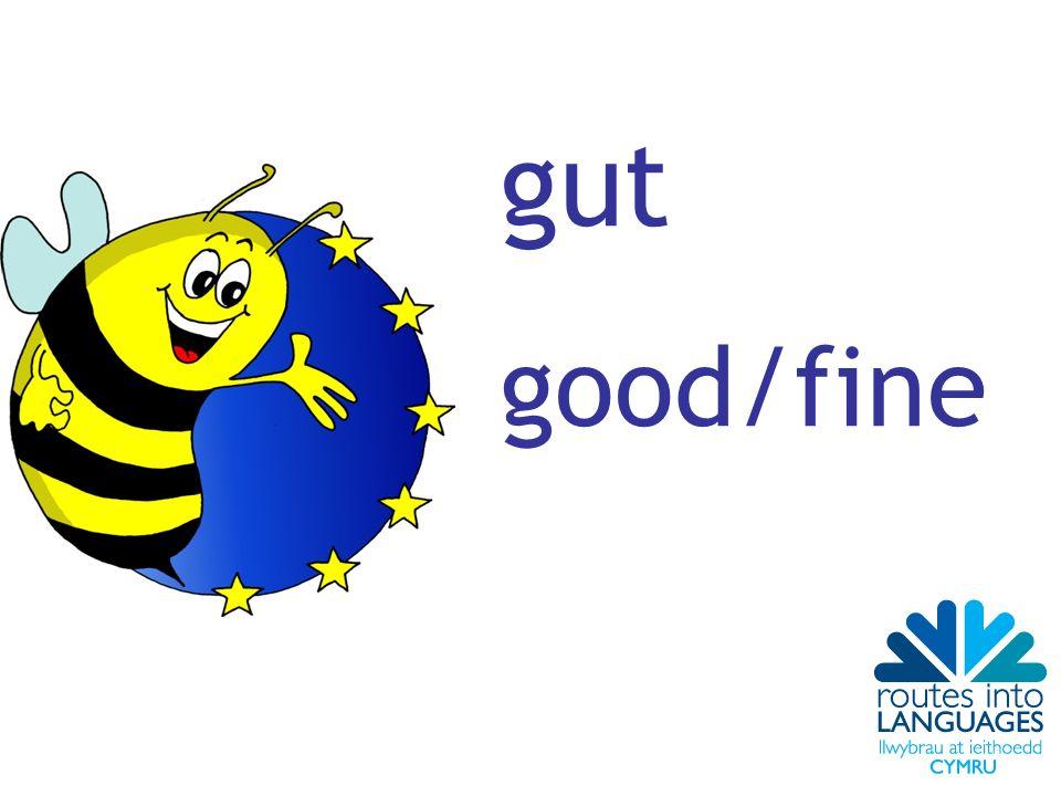 gut good/fine