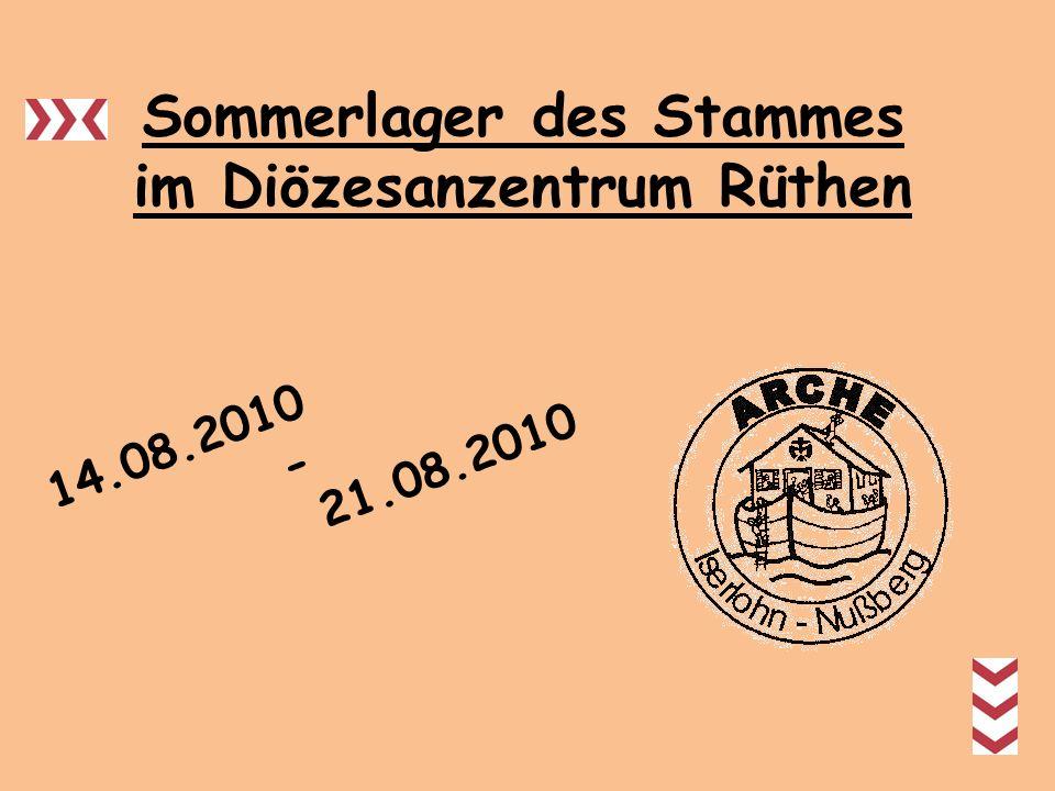 Das Diözesanzentrum - Rüthen Das Diözesanzentrum gliedert sich in: -Das Freizeit- und Bildungshaus, dass als Jugendherberge dient -Das Zeltplatzgelände Der vier Hektar große Zeltplatz liegt in der Nähe von Warstein.