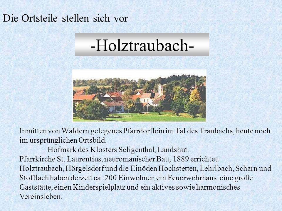 -Ascholtshausen- Auf dem Höhenrücken zwischen Großer und Kleiner Laber an der B 15 gelegenes Pfarrdorf. 1139 in der päpstlichen Bestätigungsurkunde fü