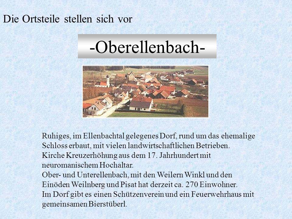 -Oberhaselbach- Geschichtsträchtiger Ort (genannt Hasalpah) um 900 n. Chr. gegründet. Kirche St. Martin, erbaut 1878. Reich verzierte Kanzel von Matth