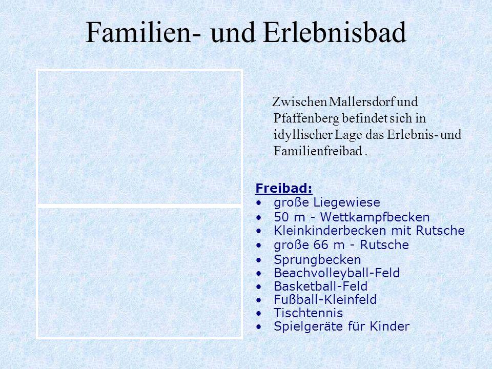 Ein gemeindlicher und ein klösterlicher Kindergarten mit christlich geprägter Erziehung. Kindergarten