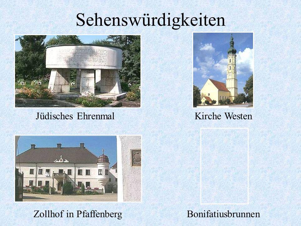 Sehenswürdigkeiten Pfarrkirche MallersdorfPfarrkirche Pfaffenberg MarienbrunnenMarktbrunnen